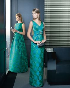 -green brocade rosa clara dress