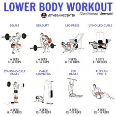 Leg Day Workouts, Weight Training Workouts, Gym Workout Tips, Fun Workouts, Workout Schedule, Workout Routines, Body Type Workout, Muscle Fitness, Fitness Life