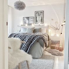 Neutral colours - love this room.