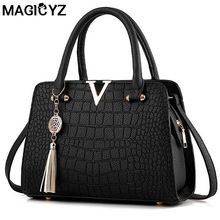 eed7232a0914 Luxury Crocodile leather women handbags Famous brands designer women  messenger bags female fringed shoulder bag women s