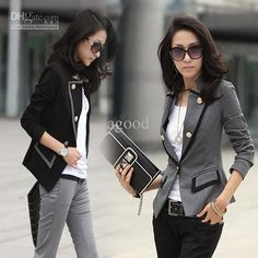 Wholesale Chic Suit Jacket Women's Girls OL Pattern