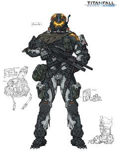 Titanfall fan art, Wu Kim on ArtStation at… Character Concept, Character Art, Character Design, Fantasy Armor, Dark Fantasy, Armor Concept, Concept Art, Science Fiction, Arte Cyberpunk