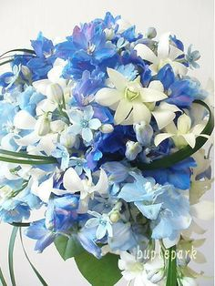 Blue Flowers everywhere! Visit Bartenurablue.com #Bartenura #Blue #Flowers #Moscato #Beautiful