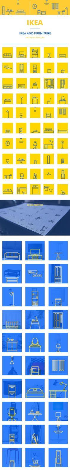 https://www.behance.net/gallery/23325933/IKEA-furniture-icon