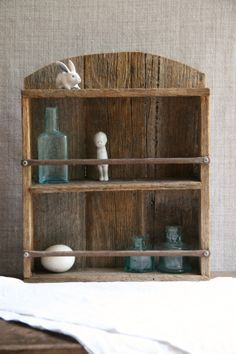 Vintage Rustic Shelf Wooden Rack for Display or by FoundByHer