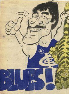 Blueseum: History of the Carlton Football Club Go Blue, Navy Blue, Carlton Afl, Carlton Football Club, Australian Football, Baggers, Art Logo, Football Players, Cartoon Art