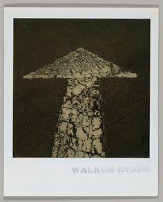 [Street Arrow] - Instant color print - 1973-74.  Walker Evans