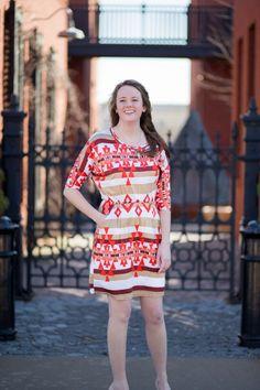Ivory Aztec Dress