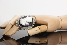 Oversized statement ring, cocktail rings, Cameo jewelry, Steampunk ring, costume ring, classic gothic ring, vintage style, Violet Vanilla by VioletVanilla on Etsy #cameoring #steampunk #jewelry #rings #gothicrings #goth #classicrings #cameojewelry #violetvanilla