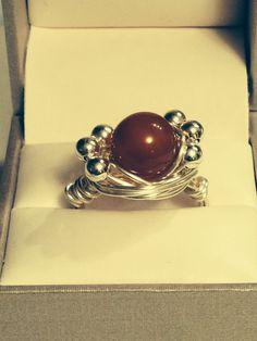 Red Aventurine wrap ring