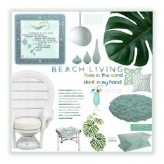 """""""Beach Living"""" by fassionista ❤ liked on Polyvore featuring interior, interiors, interior design, home, home decor, interior decorating, Jaipur, SPIRA, By Lassen and PBteen"""