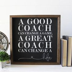 Need the perfect gift for a coach who has had an impact on your life? Look no further! This sign says it all. It is filled with thankfulness and gratitude. -SIZE: 16.5 in. x 16.5 in. -READY TO HANG -DARK STAIN WOODEN FRAME -This listing is for one MADE TO ORDER wooden sign. Please allow