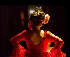 Young flamenco dancer.