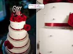 only with black ribbon and hot pink flowers....yep, this is my cake