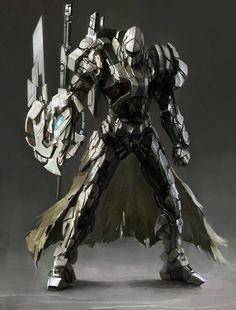 cyberclays illustrations by jinglin Xu WarGreymon - Digimon fan art Robot Concept Art, Armor Concept, Gundam, Character Concept, Character Art, Arte Robot, Futuristic Armour, Mekka, Images Gif