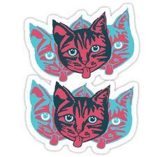 """Mollycat Close-Up"" Stickers by Redbubble #rebubblestickers #stickers #cats #caturday #catstuff #mollycatfinland #koolthing #kissa #katter #katzen #sticky #redbubble #catlady #catwoman #crazycat"