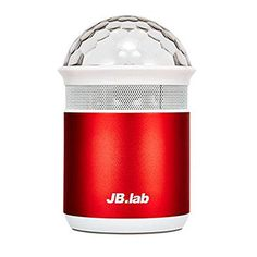 JB.lab Stage LED Light Portable Mini Bluetooth Speaker (Red). Gorgeous 4-color LED lighting Rendering natural spectrum according to EQ of music. Micro 5-pin charging. Supporting voice guide of SNS application Reading messages in voice by making use of application developed by JB Lab. AUX Playing role of external speaker of PC,smart phone and tablet PC by connecting on 3.5 AUX terminal. Micro SD, USB Using as an MP3 player (recognizing up to 32 GB).