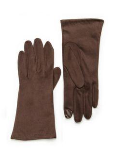 PORTOLANO Espresso 2 Button Suedetex Tech Gloves