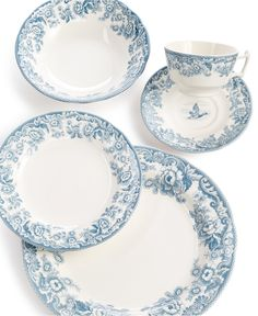 Spode Delamere Lakeside 5 Place Setting - Fine China - Macy's