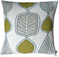 #CushionCover #LauraAshley Wykeham Leaf #Handmade Olive #Green #Scatter