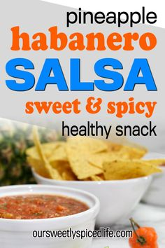 Pineapple habanero salsa - this spicy habanero salsa will blow your mind! Try this homemade habanero salsa recipe, a deliciously spicy pineapple salsa recipe. An easy food processor salsa, make up this homemade pineapple salsa with habaneros for an easy snack recipe. Fresh salsa is always an easy healthy snack or makes a great healthy party snack. Also vegan, plant based, and gluten free snack  #healthysnack #salsa #habanero #pineapple #partysnack #easysnack #easyrecipe #healthy #vegan… Habanero Salsa Recipe, Spicy Salsa, Fresh Salsa, Healthy Party Snacks, Easy Snacks, Snack Recipes, Love Dip Recipe, Fresh Tomato Recipes, Pineapple Salsa