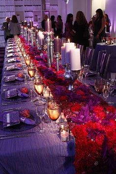 red and purple wedding wow