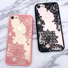 Fashion Sexy Lace Floral Case For iphone 7 Case Cartoon Flower Paisley Mandala Henna Cover Phone Cases For iphone7 6 6S Plus NEW