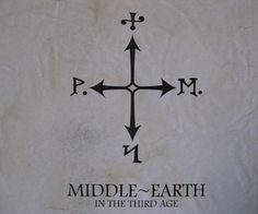 Aged Map of Middle Earth