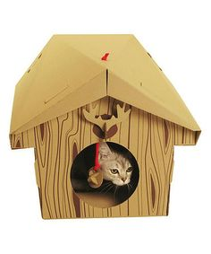 Another great find on #zulily! Cabin Cat Playhouse by Suck UK #zulilyfinds