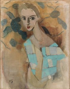 Helene Schjerfbeck: Girl from Eydtkuhne II Finnish National Gallery/Ateneum Art Museum, The Kaunisto Collection. Helene Schjerfbeck, Art And Illustration, Female Painters, Royal Academy Of Arts, Art Society, Harlem Renaissance, A4 Poster, Vintage Artwork, Contemporary Paintings