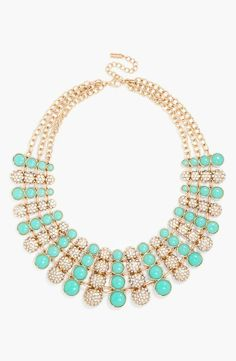 Mint bling! Love this Pavé Multistrand Necklace from BaubleBar.
