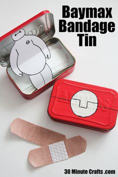 Baymax Bandage tin - Big Hero 6 Craft THIS IS REVOLUTIONARY