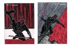 darth maul cards by TomKellyART.deviantart.com on @deviantART