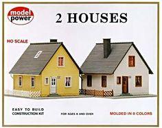 Model train set houses