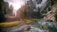 The rivers of Whiterun from The Elder Scrolls V: Skyrim   36 Beautiful Landscapes That Prove That Video Games Are Art