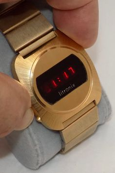 Led Watch, Timex Watches, Time Design, Red Led, Display Case, Vintage Watches, Digital Watch, Quartz Watch, Cool Designs