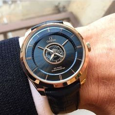 Here is something you don't see every day. Omega DeVille Tourbillon  Photo by @martinissing