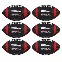 Wilson Hyper Spiral NFL Play 60 Junior Size American Football (6 Pack) WTF1838 -- Awesome products selected by Anna Churchill