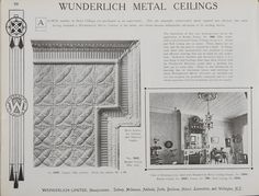 Catalogue page, page 32 of 'Abridged General Catalogue of Metal Ceilings, Wall Linings and Stamped Metal for Exterior and Interior Decoration', Wunderlich Limited, Redfern, New South Wales, Australia, September 1912  Page 32 of 'Abridged General Catalogue of Metal Ceilings, Wall Linings and Stamped ...