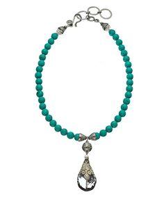 Marie Chavez Tibetan Turquoise Necklace #maxandchloe