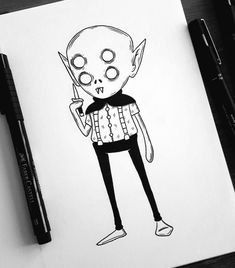 Creepy Sketches, Creepy Drawings, Halloween Drawings, Cartoon Drawings, Cartoon Art, Art Sketches, Art Drawings, Doodle Monster, Monster Art