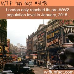 London population before WW2 - WTF fun facts