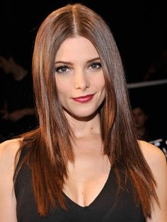 Ashley Greene  A center part and lots of length lend a classic feel to Ashley Green's look. Layers just at the bottom third of her hair keep the style from being weighted down.