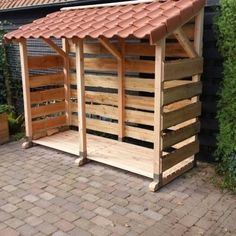 Douglas wood sheds - Garden and Fireplace - Douglas wood sheds – Garden and Fireplace - Firewood Shed, Firewood Storage, Backyard Projects, Outdoor Projects, Outdoor Buildings, Outdoor Structures, Douglas Wood, Pallet Building, Pallet Shed