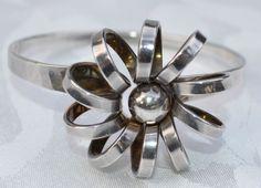 Anna Greta Eker Scandinavian Sterling Silver Modernist Bracelet Norway #AnnaGretaEker