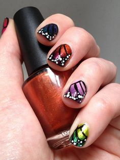 Original Art by Beads. Nails. Food.  Zoya ~ Mieko, OPI ~ Brisbane Bronze, A England ~ Tristam, A England ~ St. George, OPI ~ Take the Stage, Zoya ~Jem, OPI ~ Pedal Faster Suzi, OPI ~ Dutch'ya Just Love OPI?,   Color Club ~ Fly with Me, and OPI ~ Catch Me in Your Net