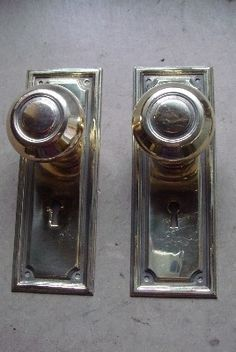 Pair of Decorative Edwardian Oval Brass Door Knobs Ref.92371 ...