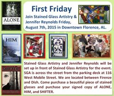 Our hours for week 8-03-15 through 8-08-15 will be Monday & Tuesday 11-6, Closed Wednesday, Thursday 11-6, & Friday 11-9 for First Fridays Downtown Florence, & closed Saturday. #stainedglass #hours