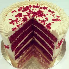 #Sweet cream cheese #frosting and a rich #red sponge - why mess with with a #classic? Our #delicious #redvelvet #cake is available today at #lorchidee #westfieldstratford! #bestseller #indulge #instafood #treat