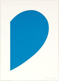 Available for sale from ICA Philadelphia, Ellsworth Kelly, Small Blue Curve Lithograph on Rives BFK paper, 17 × 12 in Aurelie Bidermann, Ellsworth Kelly, Turquoise Art, Modern Art Prints, Minimalist Art, American Artists, Architecture Art, Art Decor, Contemporary Art